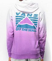 Vans Hi-Point Purple & White Dip Dye Hoodie