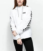 Vans Kastle MTE Checker chaqueta blanca cortavientos