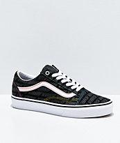 Vans Old Skool Emboss Black & White Skate Shoes