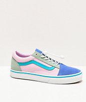 Vans Old Skool Ultramarine & Pink Colorblock Skate Shoes