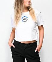 Vans Rose camiseta corta blanca y azul
