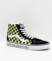 Vans Sk8-Hi Reissue BMX Checkerboard Black & Sharp Green Skate Shoes