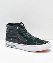 Vans x Independent Sk8-Hi Pro Spruce zapatos de skate verdes