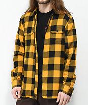 Vans x Independent camisa de franela con cremallera amarilla y negra