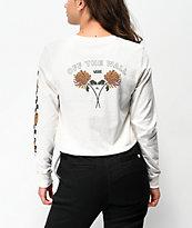 Vans x Lizzie Chrysanthemum camiseta blanca de manga larga
