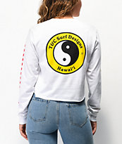 Vans x T&C Surf Designs White Crop Long Sleeve T-Shirt