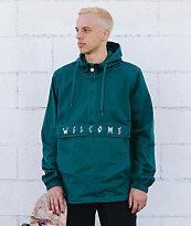 Welcome Scrawl chaqueta anorak verde azul