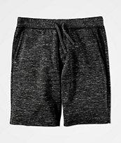 Zine Silas Space Dye Black Sweat Shorts