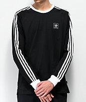 adidas Cali Blackbird Black & White Long Sleeve T-Shirt