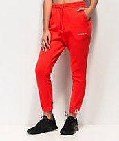 adidas Coeeze pantalones deportivos rojos