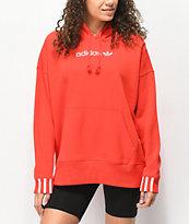 adidas Coeeze sudadera con capucha roja escarlata