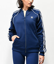 adidas Collegiate chaqueta de chándal azul oscuro de 3 rayas