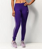 adidas Collegiate leggings morados de 3 rayas