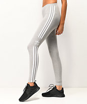 adidas Trefoil leggings grises de 3 rayas