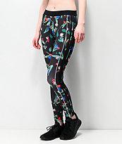 adidas leggings negros florales
