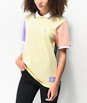 adidas x Nora Cream Colorblocked Polo Shirt
