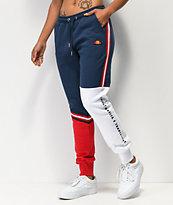 ellesse Rispetto Navy, White & Red Jogger Sweatpants