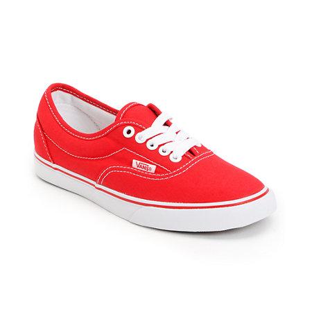 Vans Lo Pro Era Red Canvas Skate Shoe at Zumiez : PDP