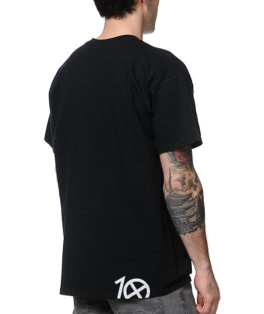 10 Deep Lights Out Black T-Shirt