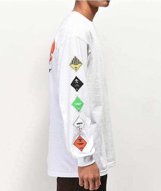 10 Deep Prohibited Long Sleeve White T-Shirt