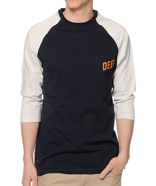 10 Deep Slope Navy Baseball T-Shirt