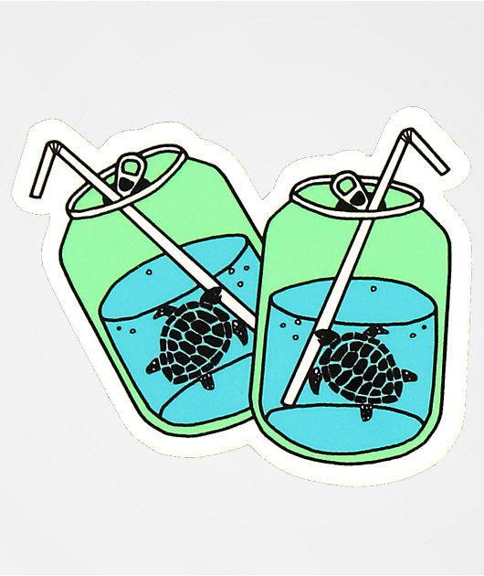 180TIDE Turtle Soda Sticker