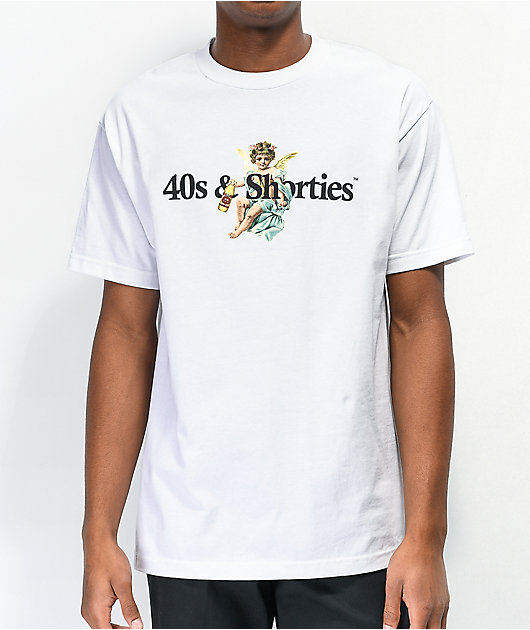 40s & Shorties Angel Logo White T-Shirt