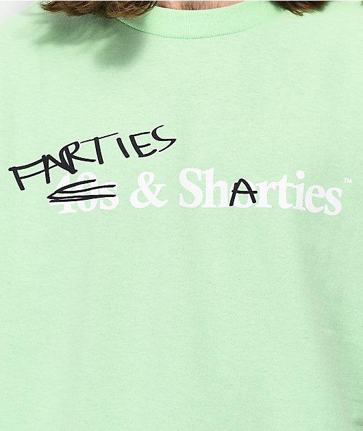 40s & Shorties Farties & Sharties camiseta verde azulado