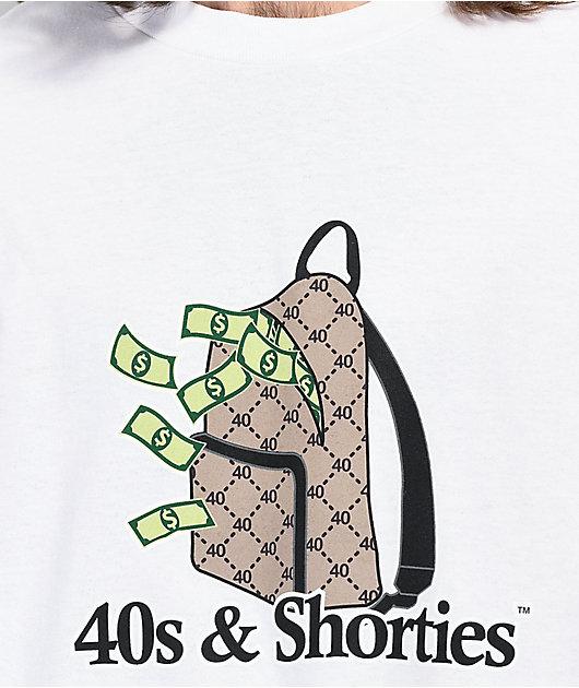 40s & Shorties Money Bag White T-Shirt
