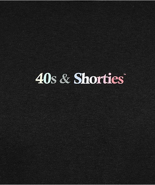 40s & Shorties Multicolor Black T-Shirt