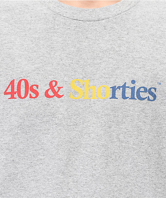 40s & Shorties Primary Logo Grey T-Shirt