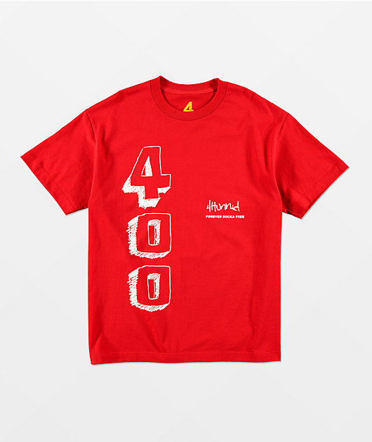 4Hunnid Blocks Red T-Shirt
