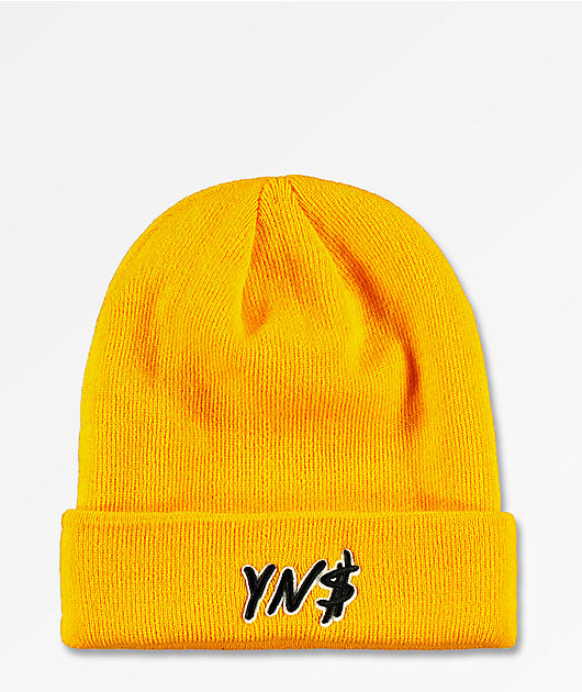 4Hunnid Fitted Yellow Beanie