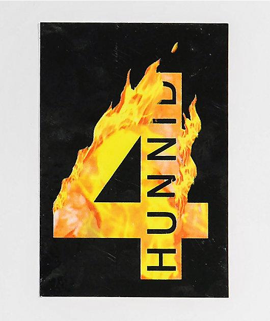 4Hunnid Flames Sticker