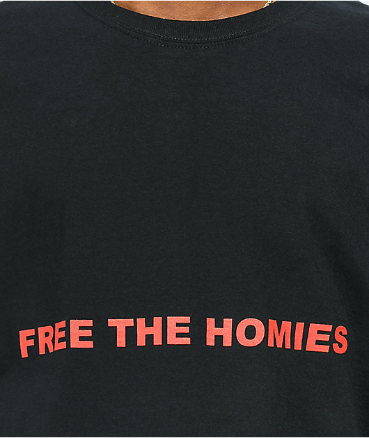 4Hunnid Free The Homies Black T-Shirt