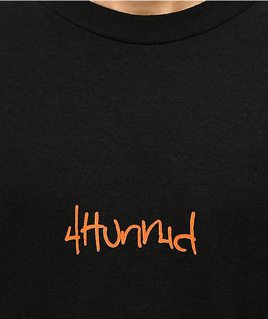 4Hunnid Hit Up Repeat Black T-Shirt