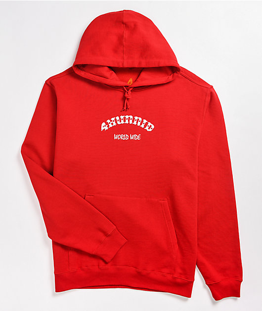 4Hunnid Large 4 Worldwide Red Hoodie