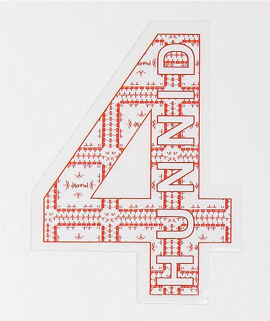 4Hunnid Paisley Sticker