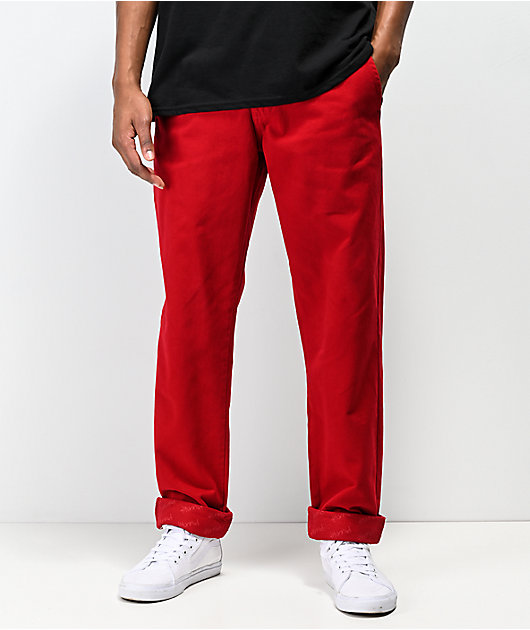 4Hunnid Red Chino Pants