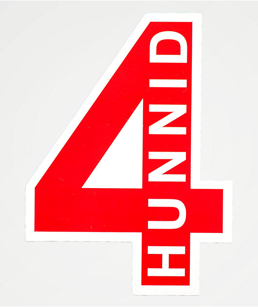 4Hunnid Red Sticker