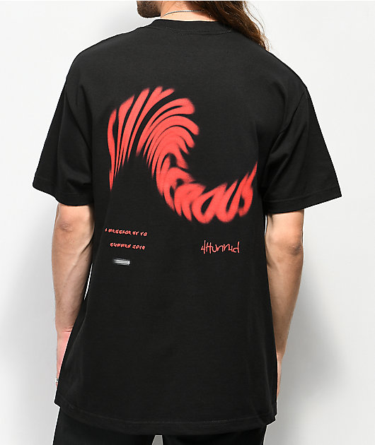 4Hunnid Stay Dangerous Twist Black T-Shirt