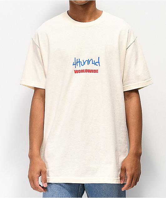 4Hunnid Worldwide Cream T-Shirt