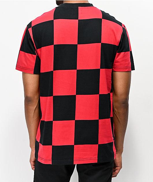 4Hunnid camiseta roja y negra de cuadros