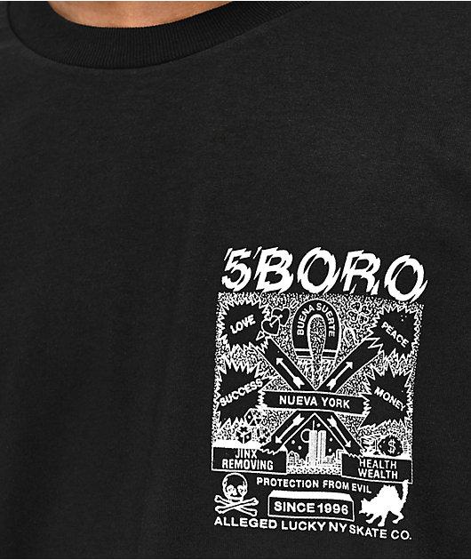 5Boro Lucky NY camiseta negra