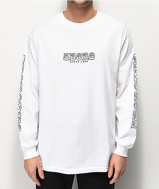 5Boro Spell Breaker White Long Sleeve T-Shirt