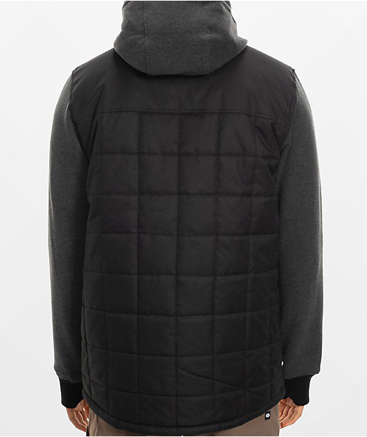 686 Bedwin Black & Charcoal Insulated Jacket
