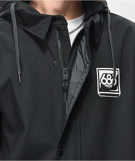 686 Coaches Black 10K Snowboard Jacket