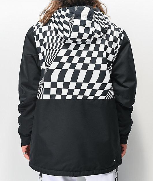 686 Foundation Checker Black & White 10k Snowboard Jacket