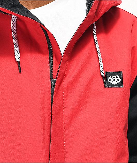 686 Foundation Snow Camo, Red & Black 10K Snowboard Jacket