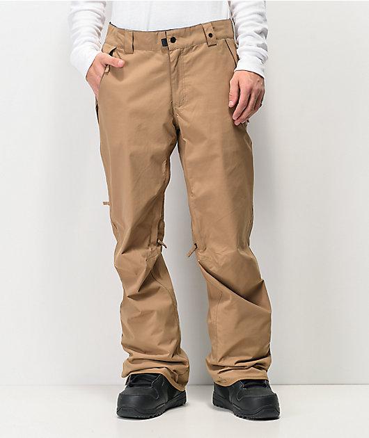 686 Standard Shell 5K pantalones de snowboard caqui